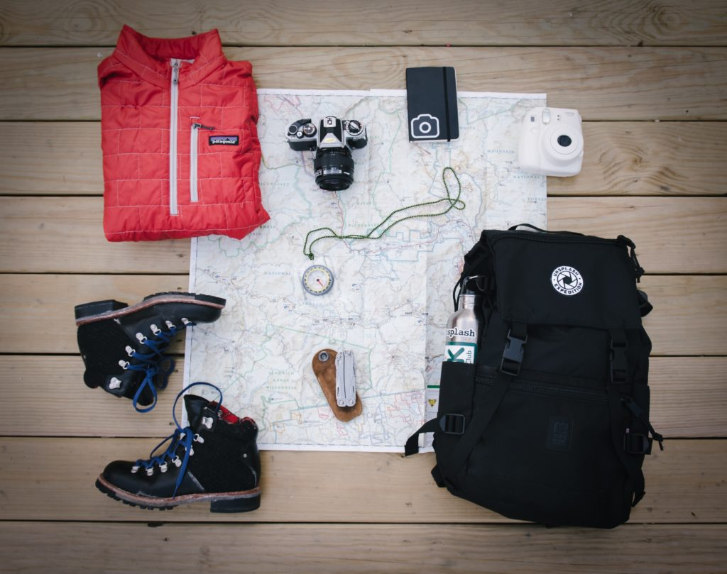 旅の荷物の写真