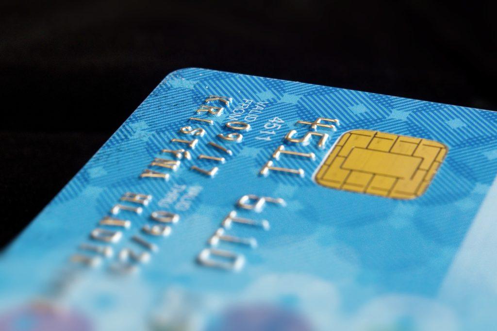 水色のクレジットカード