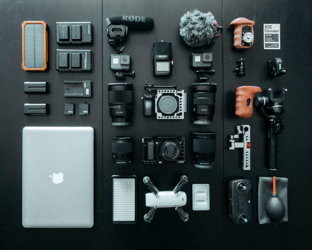 充電が必要な持ち物の写真